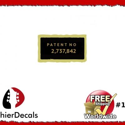 100b Patent Number Decal Aged