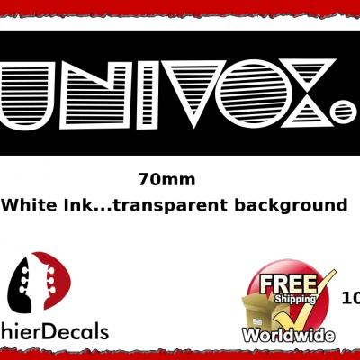 100wb Univox Guitar Decal Waterslide