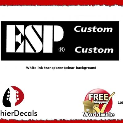 105wb Esp Custom Guitar Decal