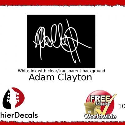 109wb Adam Clayton Guitar Decal