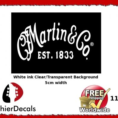 119wb Martin And Co Guitar Decal