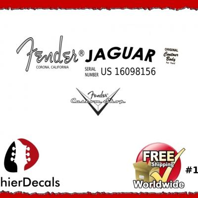 124b Fender Jaguar Decal