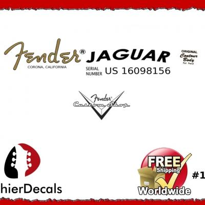 125b Fender Jaguar Decal