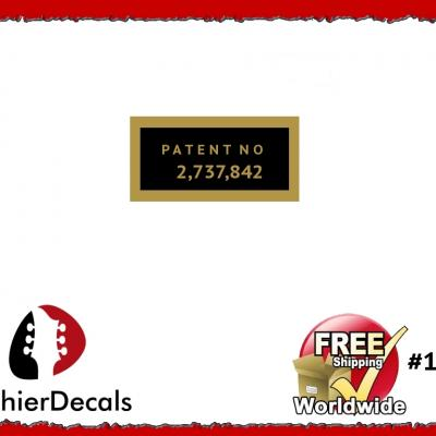 127b Patent Number Decal