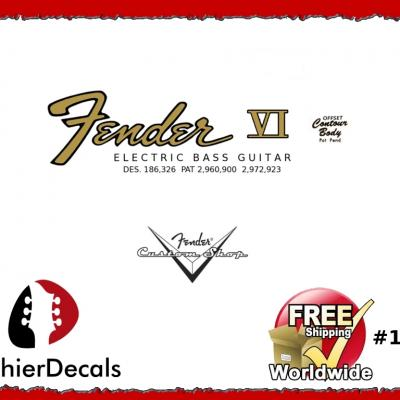 131b Fender Vi Electric Bass Decal