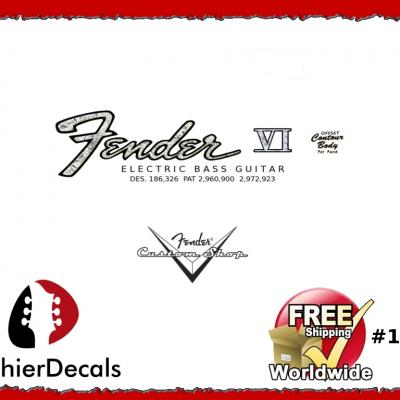 132b Fender Vi Electric Bass Decal
