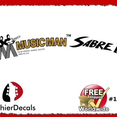 144b Musicman Sabre Guitar Decal