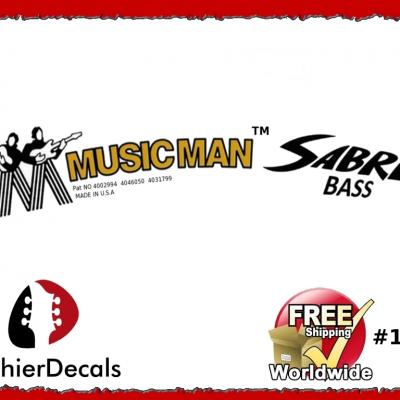 145b Musicman Sabre Bass Guitar Decal