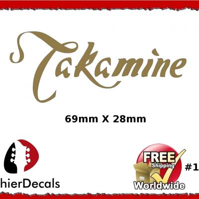 147b Takamine Guitar Decal