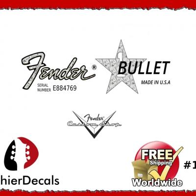 151b Fender Bullet Guitar Decal
