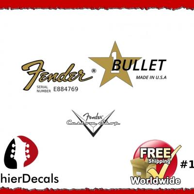 152b Fender Bullet Guitar Decal