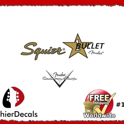 154b Squier Bullet Guitar Decal