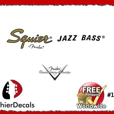 157b Squier Jazz Bass Guitar Decal