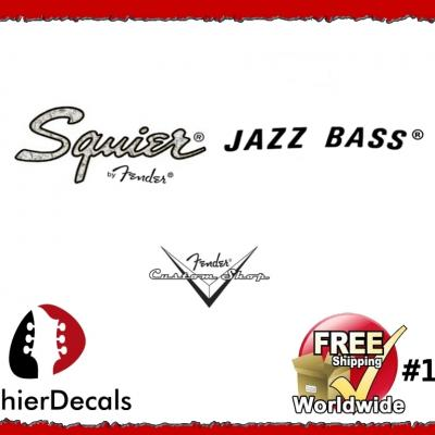 158b Squier Jazz Bass Guitar Decal