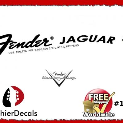 159b Fender Jaguar Guitar Decal