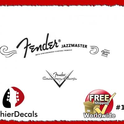 162b Fender Jazzmaster Guitar Decal