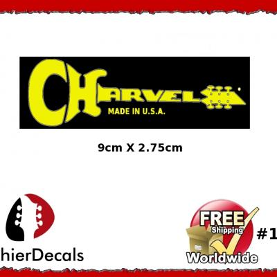 163b Charvel Guitar Decal Yellow