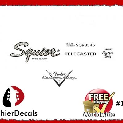 171b Squier Telecaster Guitar Decal