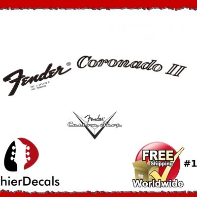 175b Fender Coronado Guitar Decal