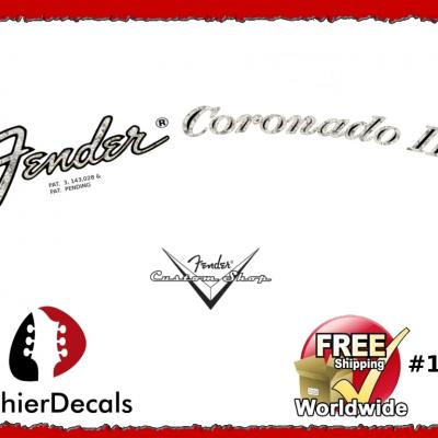 176b Fender Coronado Guitar Decal