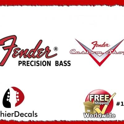 177b Fender Precision Bass Guitar Decal