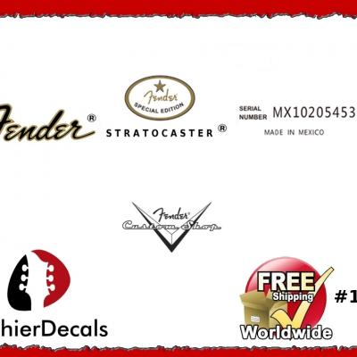 178b Fender Stratocaster Mexico Guitar Decal