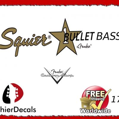 179b Squier Bullet Bass Guitar Decal