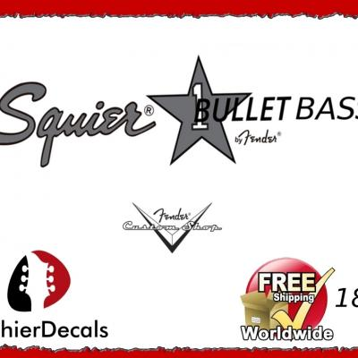 180b Squier Bullet Bass Guitar Decal