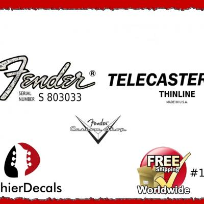 185b Fender Telecaster Thinline Guitar Decal