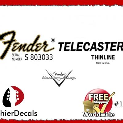 186b Fender Telecaster Thinline Guitar Decal