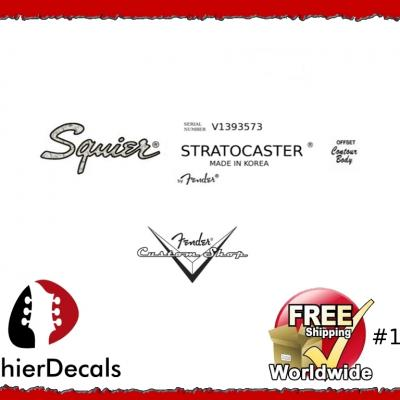 190b Squier Stratocaster Guitar Decal Korea