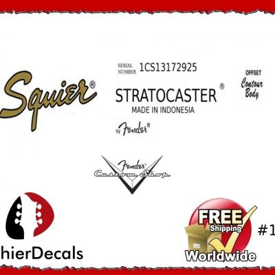 191b Squier Stratocaster Guitar Decal Indondesia