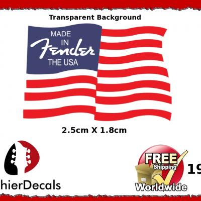 198b Fender Flag Guitar Decal