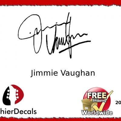 201b Jimmie Vaughan Guitar Decal Signature
