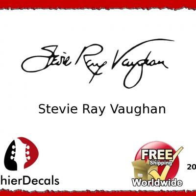 202b Stevie Ray Vaughan Guitar Decal Signature