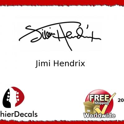 206b Jimi Hendrix Guitar Decal Signature