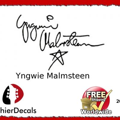208b Yngwie Malmsteen Guitar Decal Signature