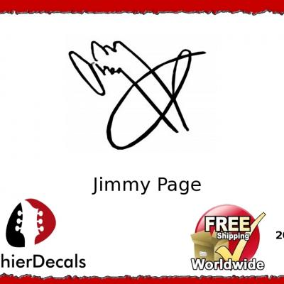 209b Jimmy Page Guitar Decal Signature