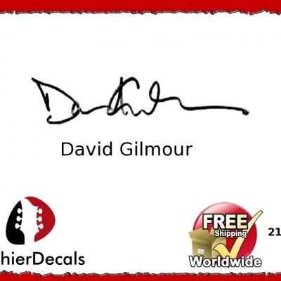 211b David Gilmour Guitar Decal Signature