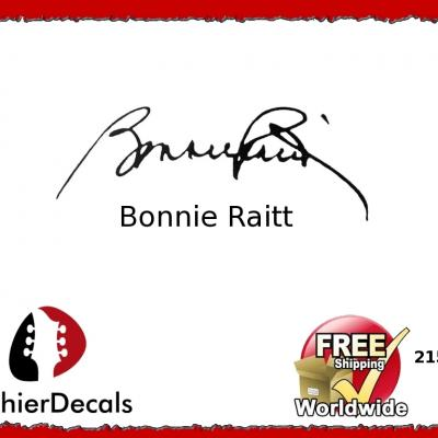 215b Bonnie Raitt Guitar Decal Signature