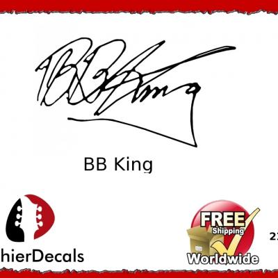 216b Bb King Decal Signature