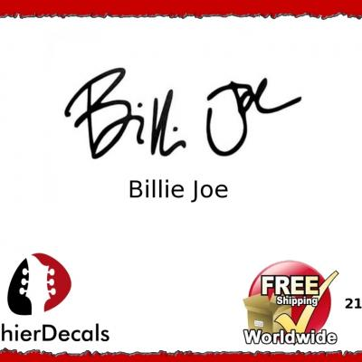 217b Billie Joe Decal Signature