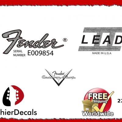 221b Fender Lead 11 Guitar Decal