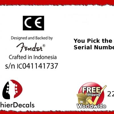 223b Made In Indonesia Guitar Decal