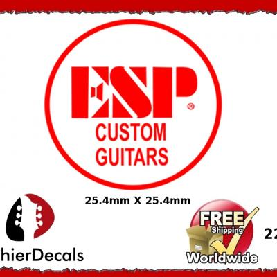 225b Esp Custom Guitar Waterslide Decal