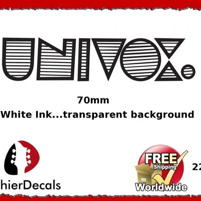 226b Univox Guitar Decal Waterslide