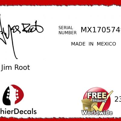 232b Jim Root Made In Mexico Guitar Decal