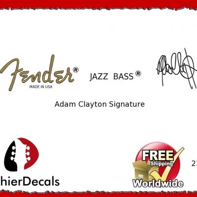 236b Fender Jazz Bass Adam Clayton Guitar Decal