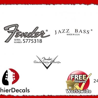 242b Fender Jazz Bass Guitar Decal