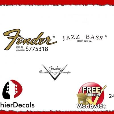 243b Fender Jazz Bass Guitar Decal